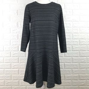 Ann Taylor Loft 3/4 Sleeve Flounce Dress M